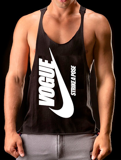 "Members16 VOGUE ""Strike A Pose"" Muscle Tank"