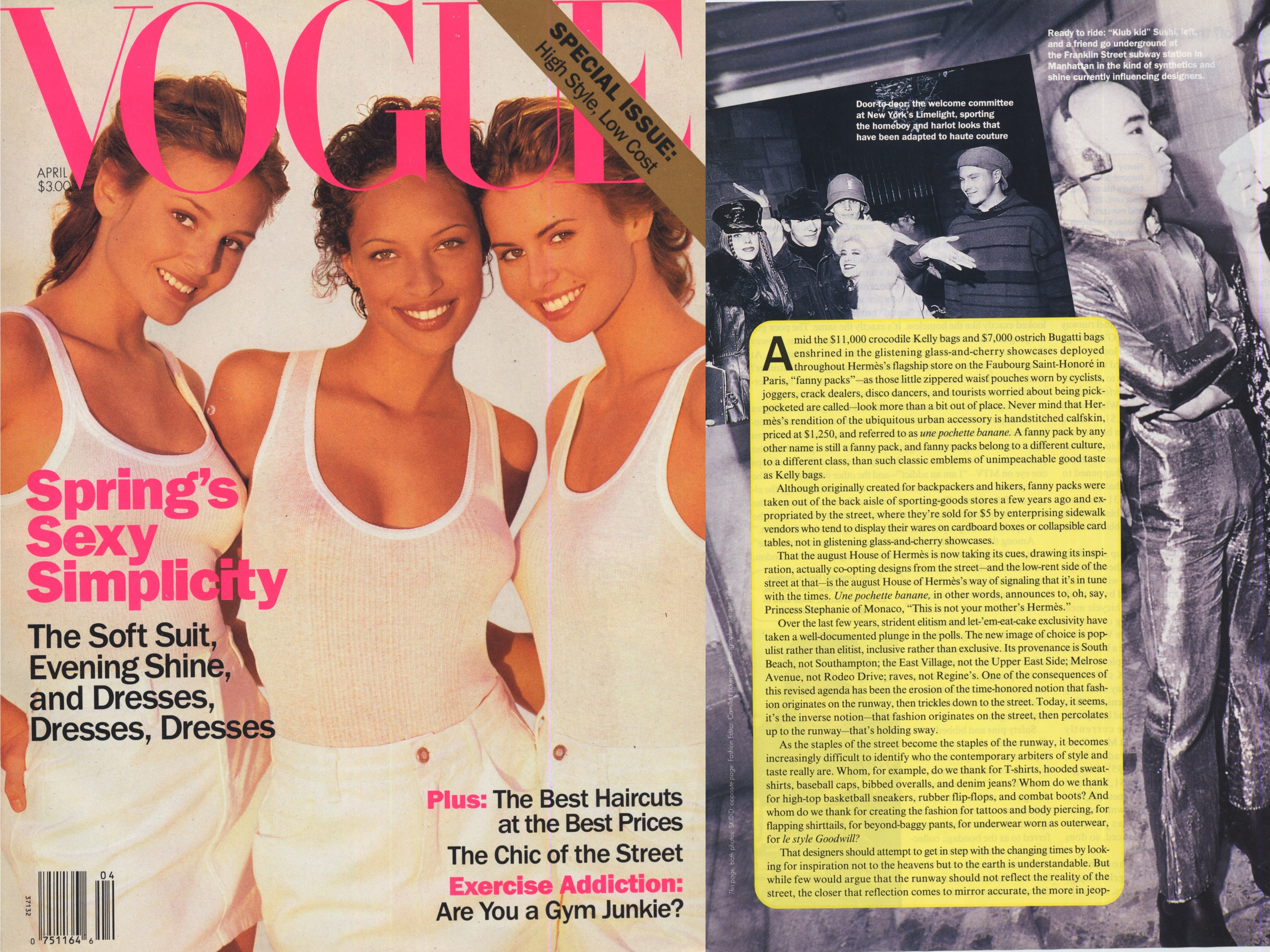 Club Kids Sushi Vogue Magazine 1992