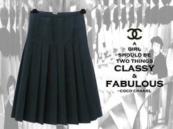 Vintage CHANEL Pleated Skirt