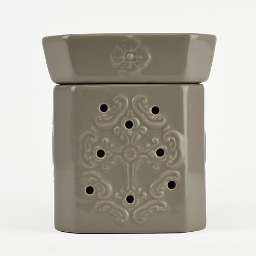Glory Matte White/Pewter Wax Warmer