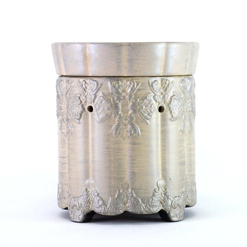 Ornate Brushed Platinum Wax Warmer