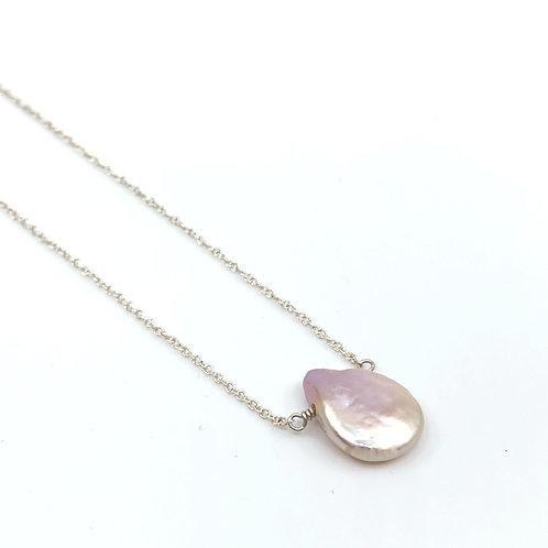 Silver Pearldrop Necklace