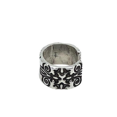 Fleur de Lis Adjustable Band Ring