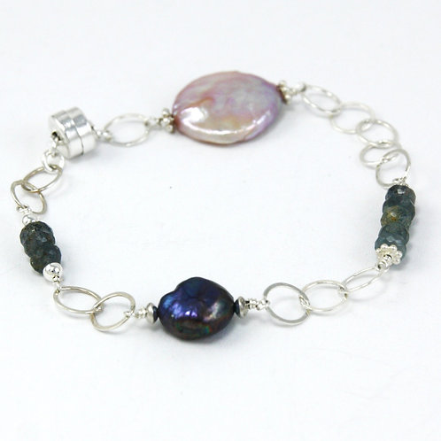 Shine: Agate & Pearls Bracelet
