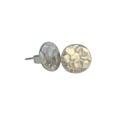 Hammered Shiny Stud Earrings