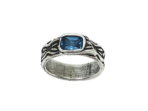 Blue Zircon Band Ring