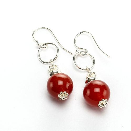 Carnelian GemDrop Earrings