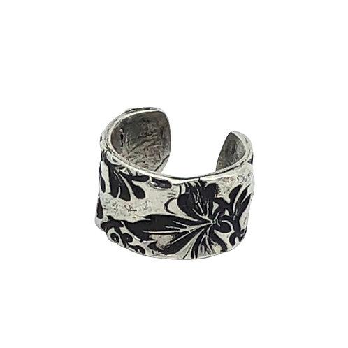 Floral Adjustable Band Ring
