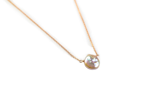 Rosegold Pearldrop Necklace