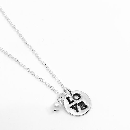 LOVE: large charm necklace