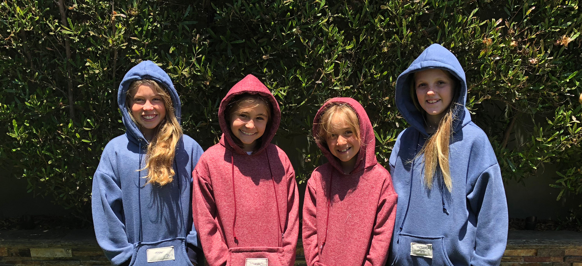 """""""Sew your own hoodie"""" camp graduates!"""