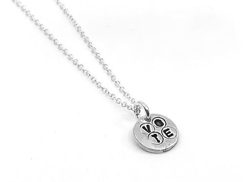 VOTE small round necklace