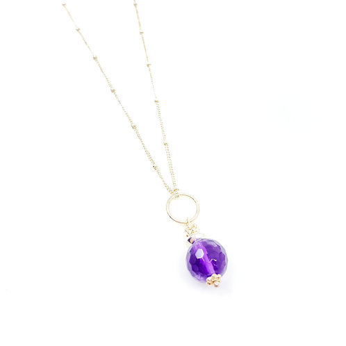 Amethyst Gemdrop Necklace