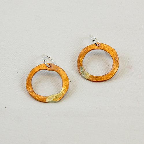 Rustic Hoop Earrings