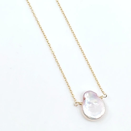 Gold Pearldrop Necklace