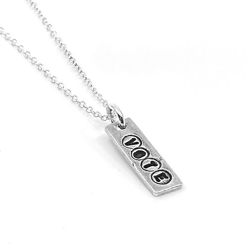 VOTE small rectangle necklace