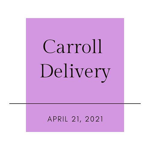 Carroll April Sangria Delivery-Please read full description