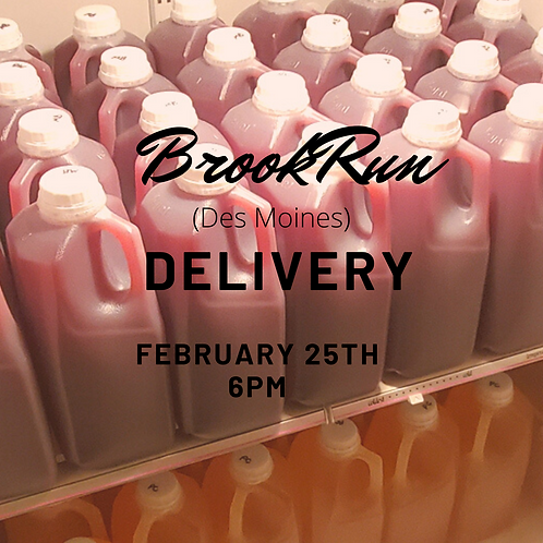 BrookRun (Des Moines) February Sangria delivery-Please read full description