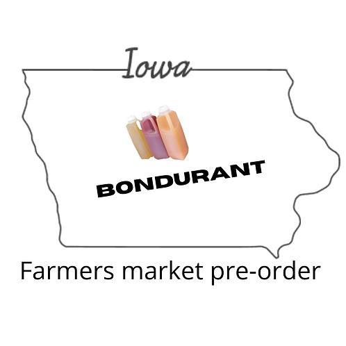 Bondurant July delivery to the Farmers market-Please read full description