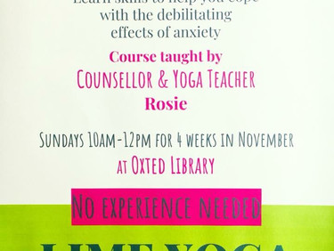 Yoga for Anxiety - short course is running again