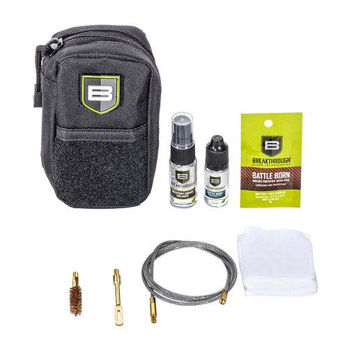 Compact Pull Through Gun Cleaning Kit (.357/.38 cal / 9mm) – Black
