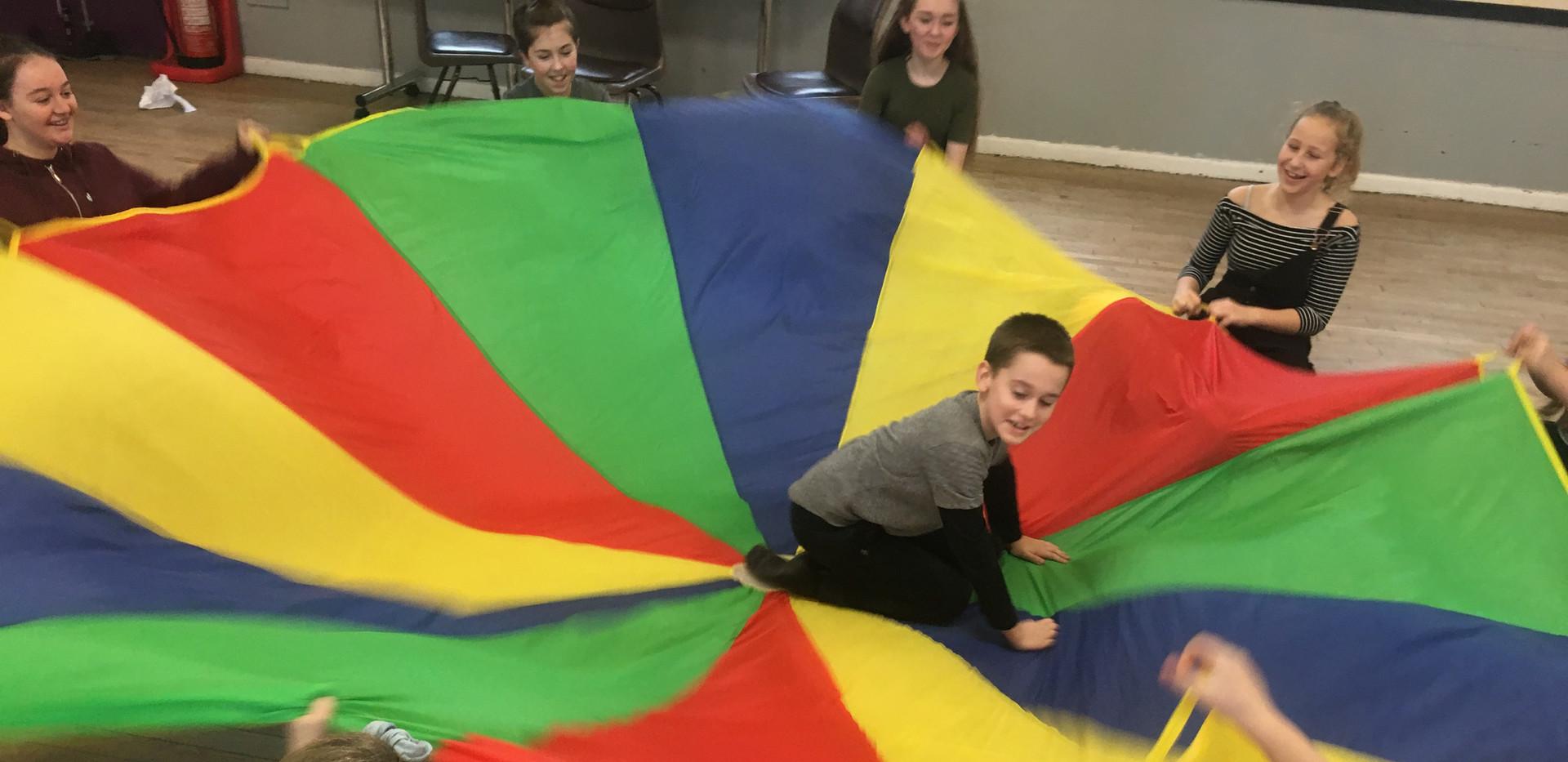 Parachute Warm Ups!