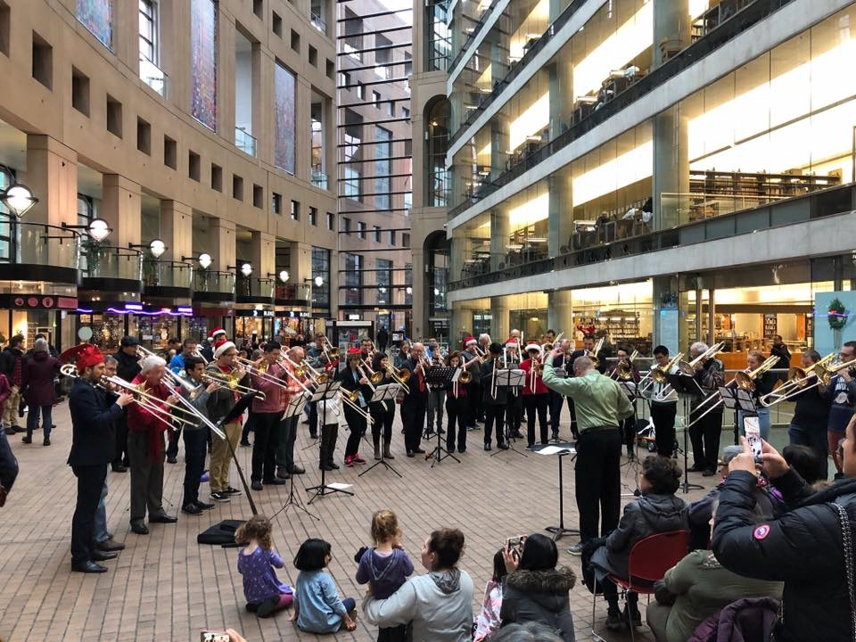 Holiday Slides Mass Choir 2018, Vancouver Public Library