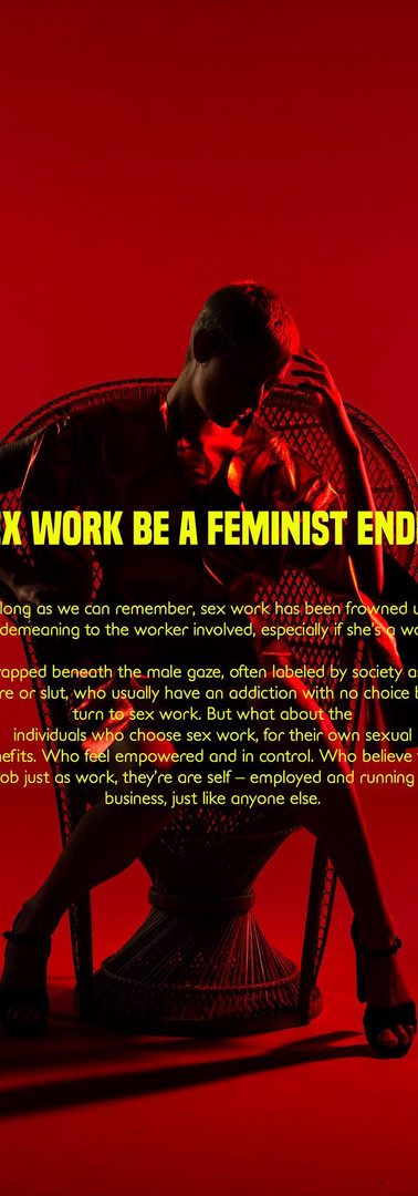 Can sex work be a feminist endeavor?