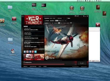 How to install and play War Thunder on Mac OSX 10.10 10.9 10.11 10.12 10.13 10.14