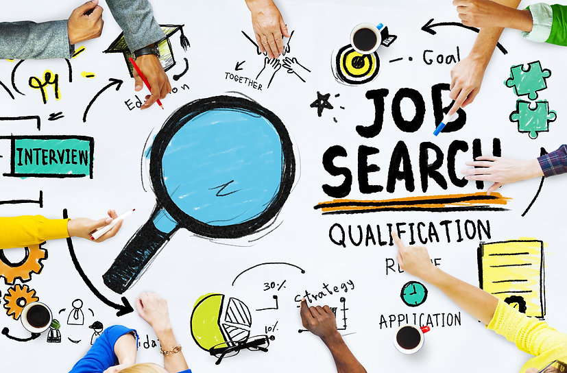 Diversity Hands Searching Job Search Opp