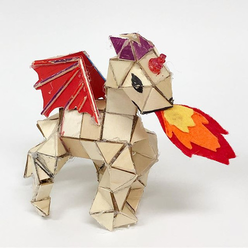 Wood tile dragon at our 2nd week of summ