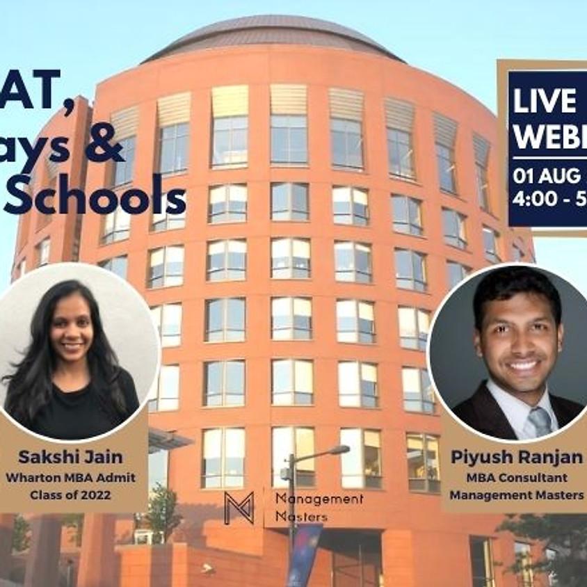 GMAT, Essays & M7 Schools with Sakshi Jain (Wharton Admit)