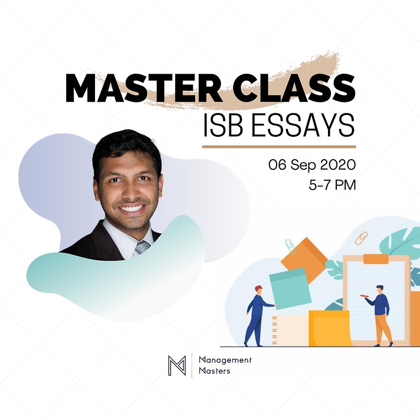 ISB Essays Master-Class