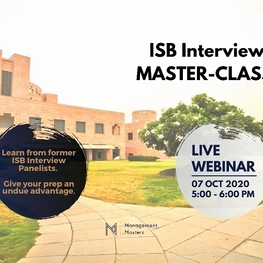 ISB Interviews MASTERCLASS