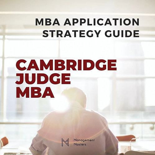 The Cambridge Judge MBA Strategy Guide