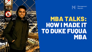 MBA Video Interviews - Aditya Singh | Duke Fuqua MBA