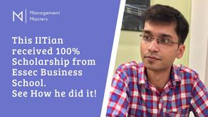 100% Scholarship from Essec Business School - Top MIM Program