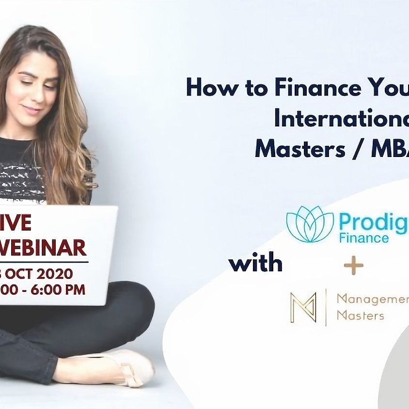 How to Finance Your International Masters / MBA