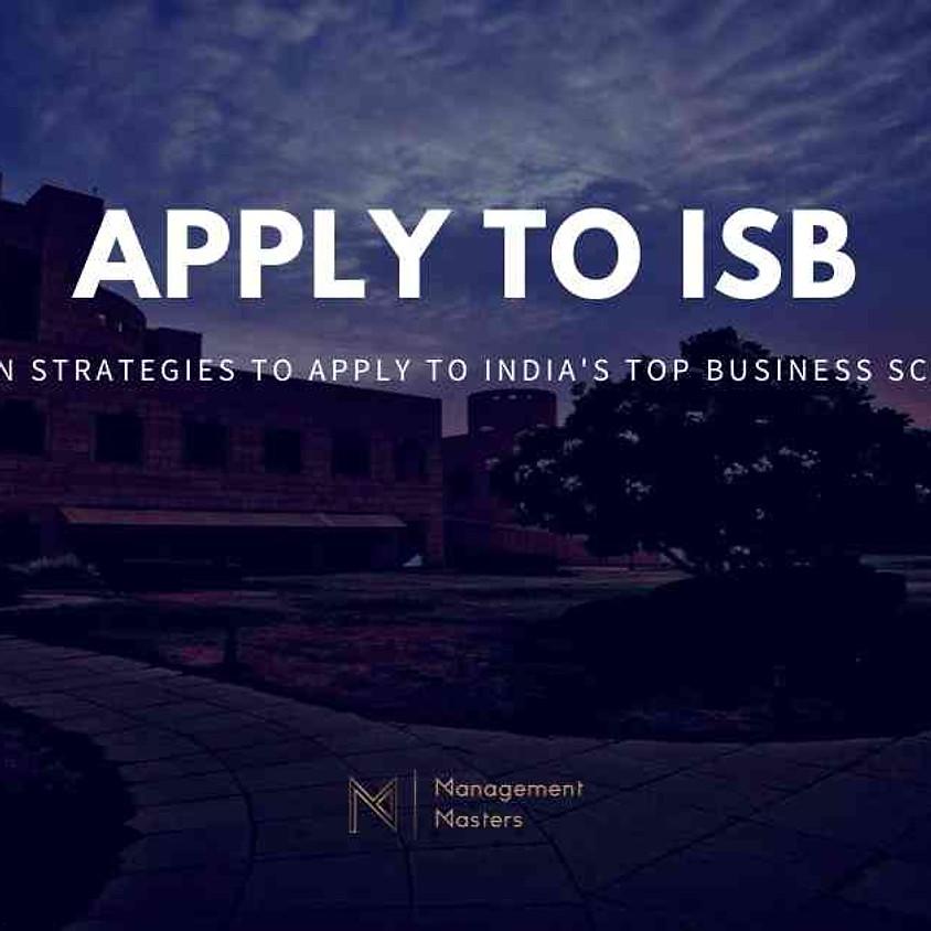 Apply to ISB - Jamshedpur