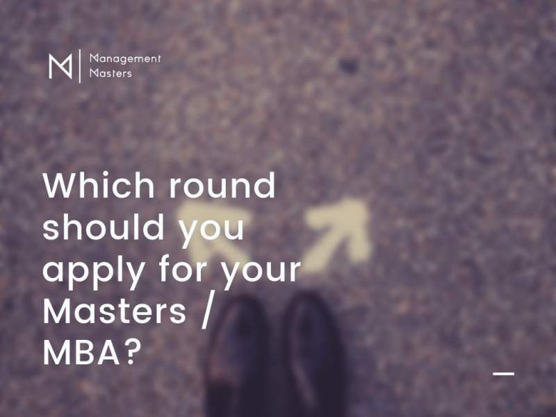should you apply to MBA in round 1
