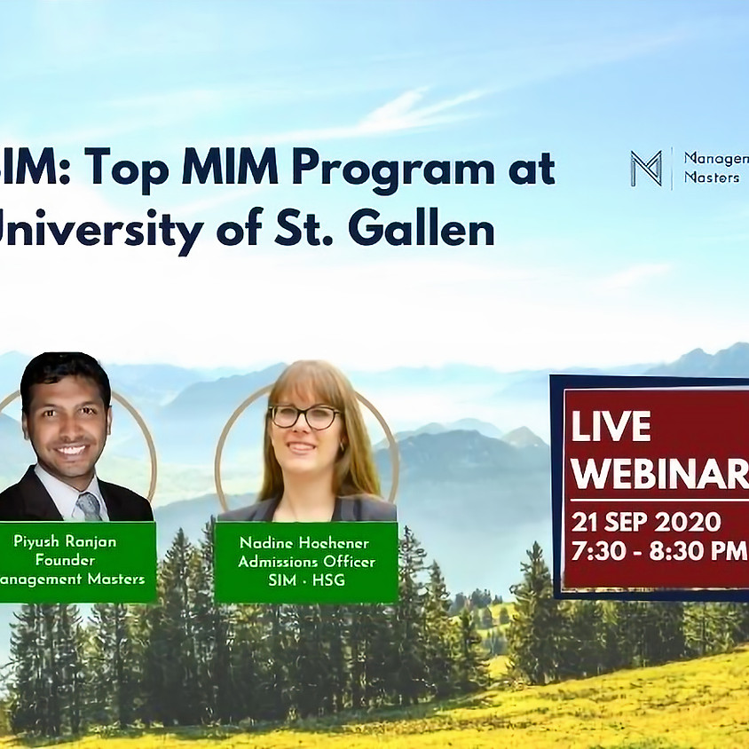 Strategy & International Management at University of St. Gallen: Top MIM Program