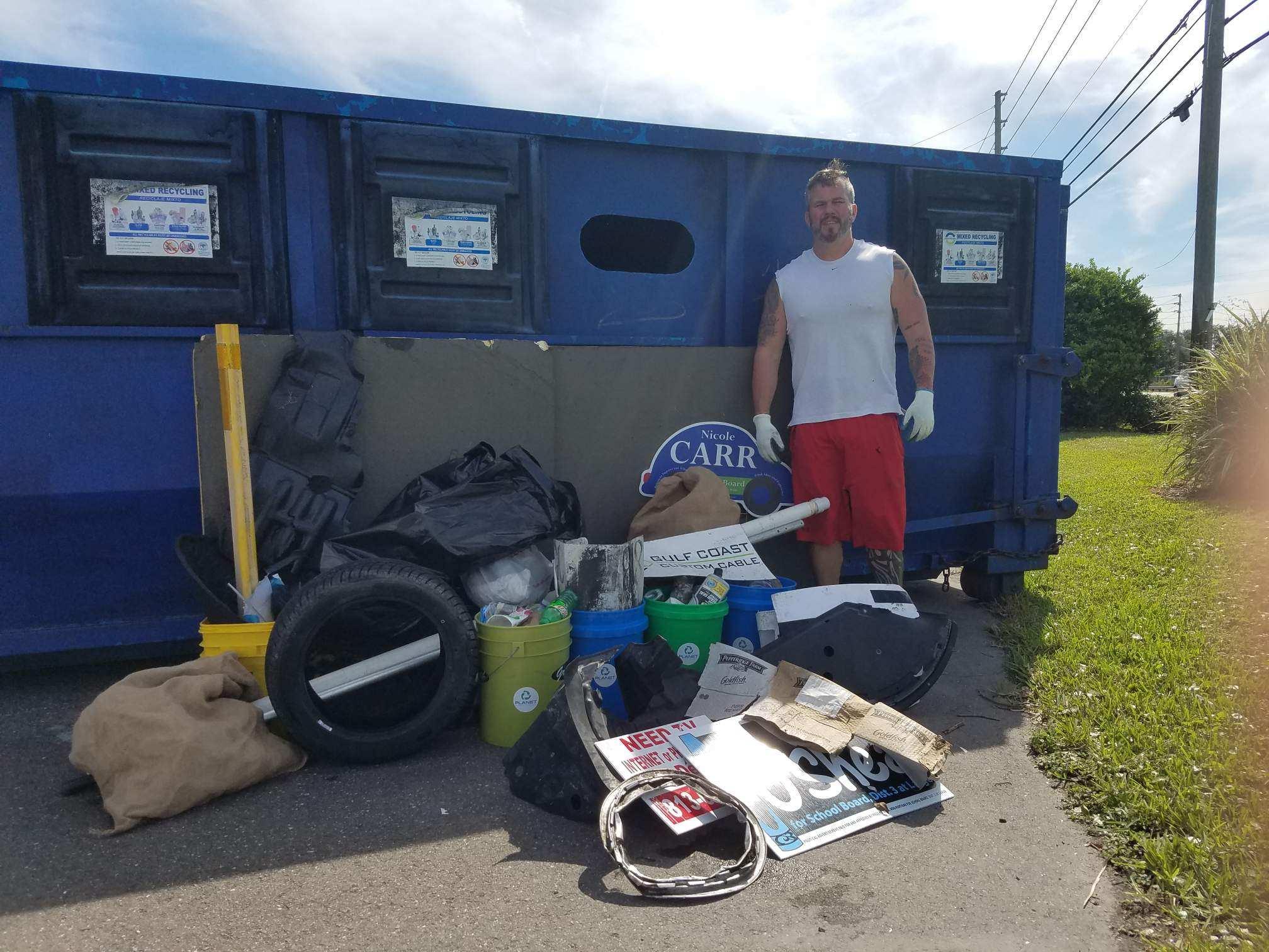 Missouri Ave Clean Up - Shane
