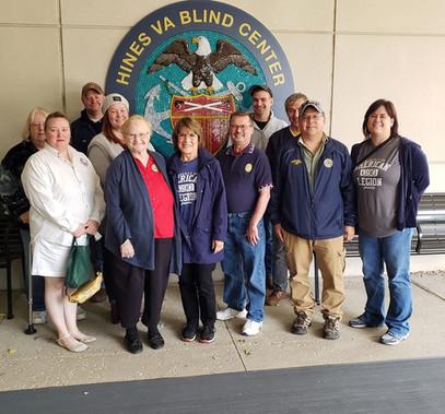 Hines Hospital Bingo Volunteers. Thank you to everybody.