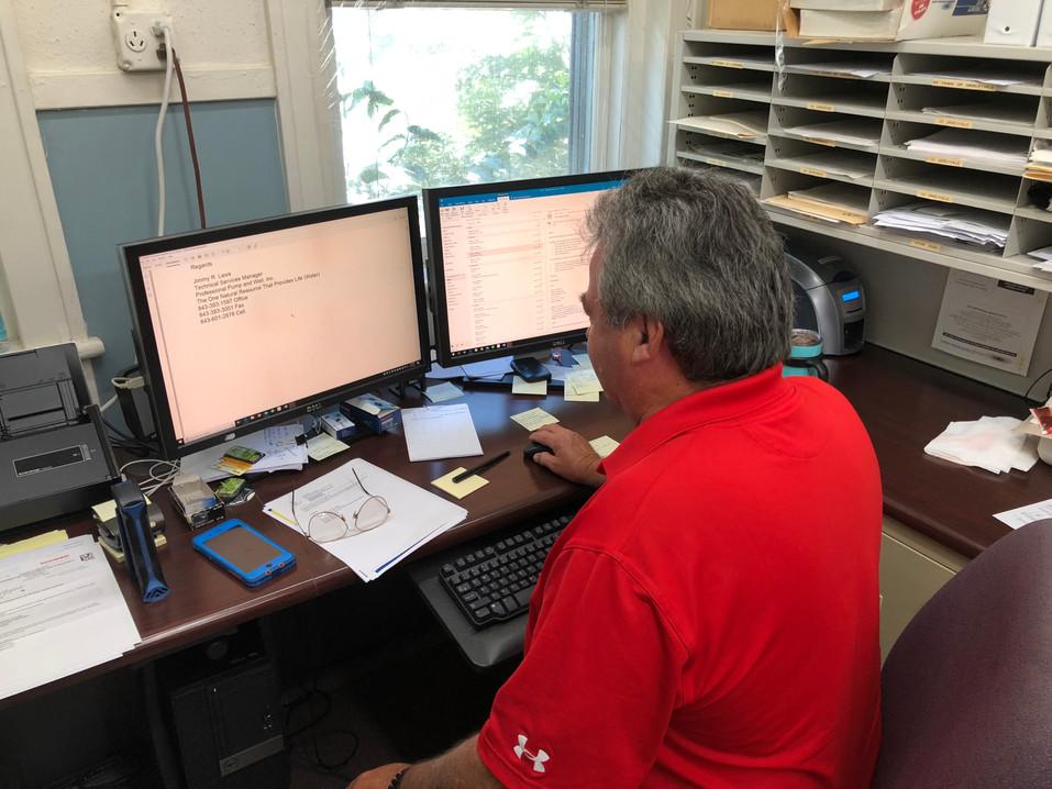 Randy Hard at Work