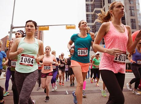 Mujer Running Marathon
