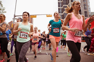 Women Running Marathon