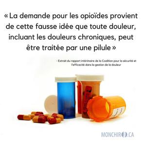 Crise des opioïdes : comment la chiropratique peut-elle faire la différence?