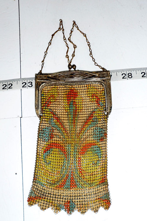 1920s Deco Metal Mesh Purse