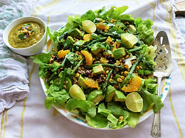 Mexican Black Bean & Corn Salad with Orange Lime Dressing
