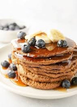 Vegan Buckwheat & Blueberry Pancakes (gf)